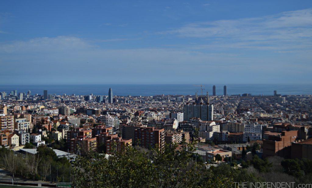 """Barcellona, vista dall' """"alto dei cieli"""""""