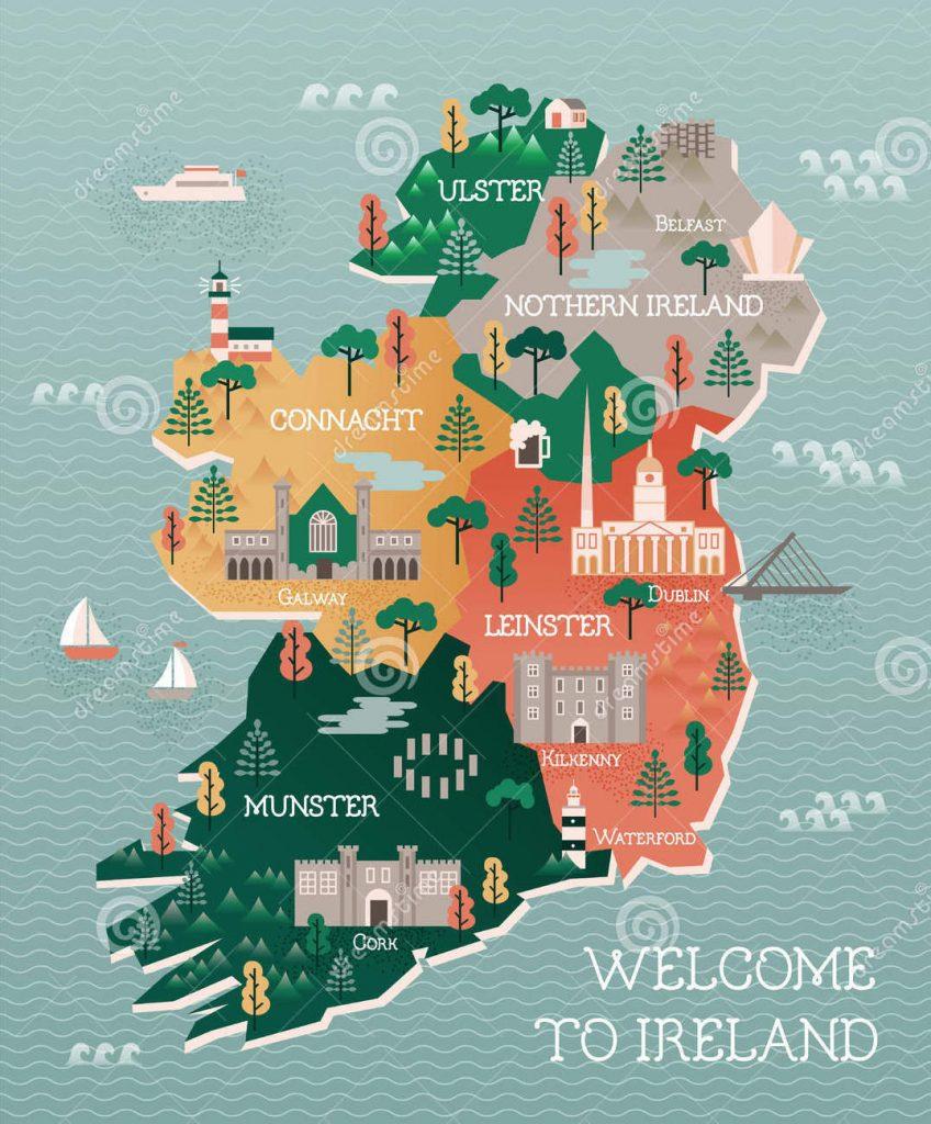 mappa-di-viaggio-dell-irlanda-con-i-punti-di-riferimento-e-le-citt-64842626